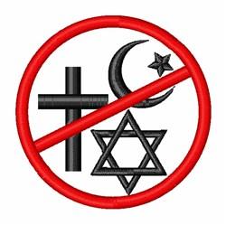 Atheist Symbol embroidery design