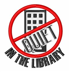 Quiet In Library embroidery design