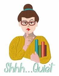 Shhh Quiet embroidery design