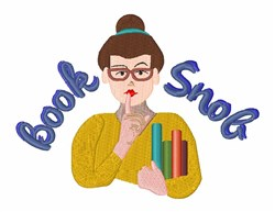 Book Snob embroidery design