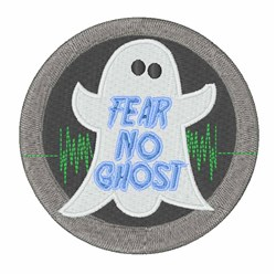 Fear No Ghost embroidery design