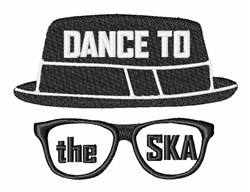 Dance To SKA embroidery design