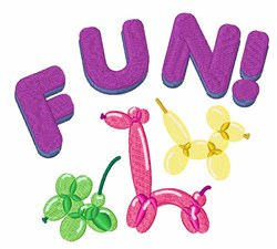 Balloon Animals Fun! embroidery design