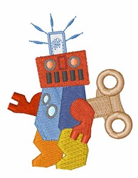 Wind Up Robot embroidery design