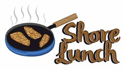 Shore Lunch embroidery design