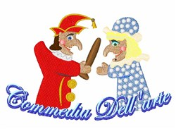 Commedia Dellarte embroidery design