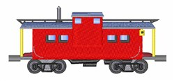 Caboose embroidery design