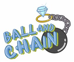 Ball And Chain embroidery design