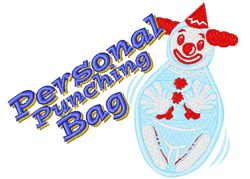 Personal Punching Bag embroidery design