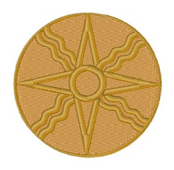Star of Shamash embroidery design