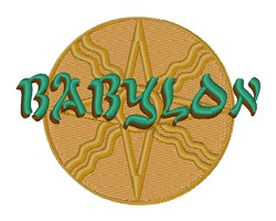 Babylon Star embroidery design