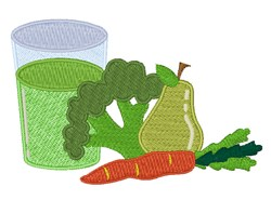 Green Juice Veggies embroidery design