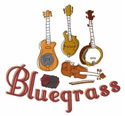 Bluegrass Instruments embroidery design
