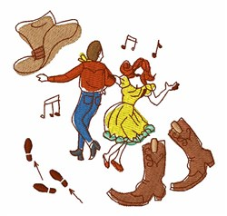 Square Dance embroidery design