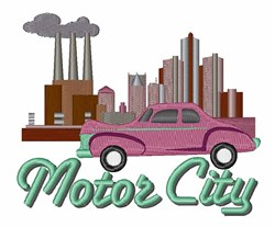 Motor City embroidery design