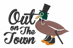 On The Town embroidery design