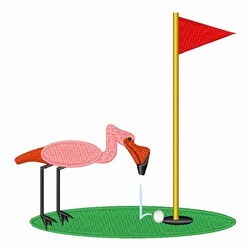 Golf Birdy embroidery design