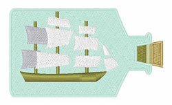 Ship In Bottle embroidery design