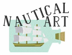 Nautical Art embroidery design