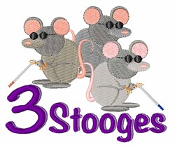 3 Stooges embroidery design