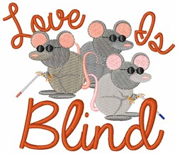 Love Is Blind embroidery design
