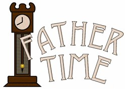 Father Time embroidery design