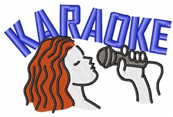 Karaoke embroidery design