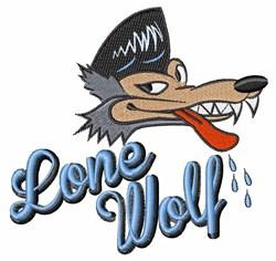 Rockabilly Wolf embroidery design