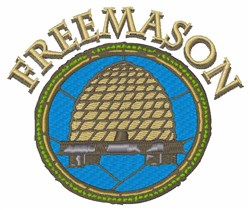 Freemason Beehive embroidery design