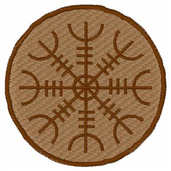 Aegishjlamr Stave Sigil embroidery design