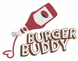 Burger Buddy embroidery design