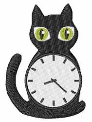 Cat Clock embroidery design