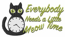 Meow Time embroidery design