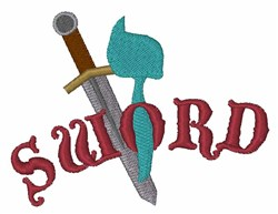 Sword embroidery design
