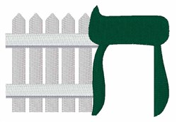Hebrew Fence embroidery design