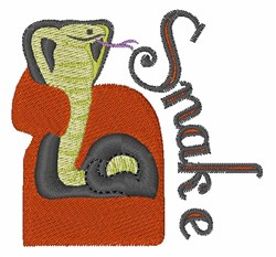 Snake embroidery design