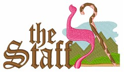 The Staff embroidery design