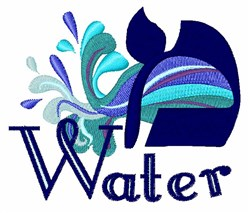 Water embroidery design