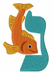Hebrew Fish embroidery design