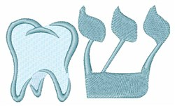 Hebrew Tooth embroidery design