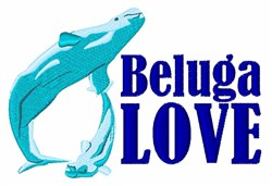 Beluga Love embroidery design