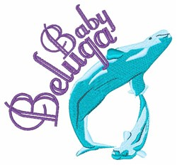 Baby Beluga embroidery design