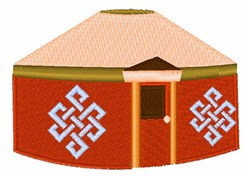 Yurt embroidery design