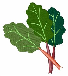 Rhubarb Plant embroidery design