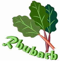 Rhubarb embroidery design