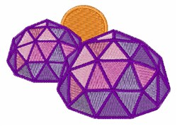 Dome Building embroidery design
