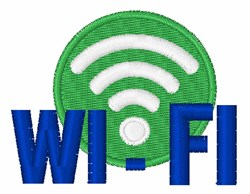 WI-FI embroidery design