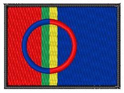 Sami Flag embroidery design