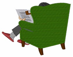 Man In Chair embroidery design