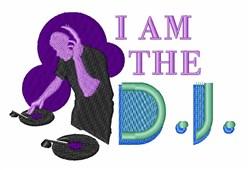 The DJ embroidery design